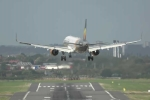 Máy bay Airbus chao đảo, vật lộn hạ cánh trong gió dữ