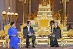Chủ tịch nước Trần Đại Quang hội kiến Quốc vương Norodom Sihamoni tại Hoàng cung Campuchia