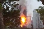 Hoảng loạn vì quán karaoke cháy nổ như bom trên đường Nguyễn Khang