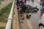 Va chạm xe tải, 3 người trên xe máy rơi xuống cầu cao 30m