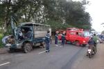 Xe tải tông nhau, 3 người nguy kịch