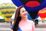 Hoa khôi Khánh Ngân dịu dàng với áo dài làm Đại sứ Lễ hội Khinh khí cầu tại Huế