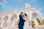 Ảnh cưới lãng mạn dưới nắng vàng biển xanh của cặp đôi 'tan hợp - hợp tan'