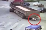 Kinh hãi xe tải cua sát, 'nuốt chửng' thiếu nữ vào gầm