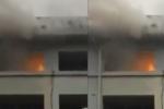 Sơ tán hàng trăm bệnh nhân khỏi bệnh viện bốc cháy ở Tuyên Quang