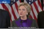 Video: Bà Hillary Clinton thừa nhận bại trận, kêu gọi cử tri 'cho Trump một cơ hội'