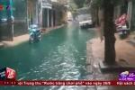 Clip: Đường Minh Khai - Hà Nội ngập nước xanh lét sau mưa