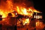 Phóng hoả đốt nhà hàng xóm lúc nửa đêm