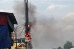Liên tiếp cháy cột điện tại Quảng Ninh, người dân lo lắng bất an