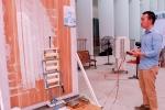 Chế tạo thành công máy sơn nhà cao tầng tự động