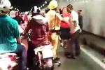 Hai nhóm thanh niên hỗn chiến trong hầm Thủ Thiêm