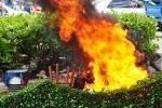 Giận vợ cũ, tưới xăng đốt mình lẫn con gái 7 tuổi