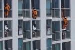 Lính cứu hỏa đạp thiếu nữ định tự tử bay ngược vào phòng gây 'bão' mạng