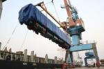 2 đầu máy của đoàn tàu Cát Linh - Hà Đông đã cập cảng Hải Phòng