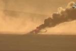 Trực thăng Nga trúng tên lửa, bốc cháy ngùn ngụt