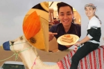 MC Nguyên Khang ăn bánh phủ vàng tinh khiết, cưỡi lạc đà ở Dubai