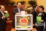 Bỏ phiếu kín bầu Chủ tịch Quốc hội khóa XIV