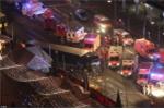 Hiện trường vụ khủng bố lao xe vào chợ Giáng sinh ở Đức