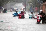 Áp thấp nhiệt đới gây mưa dông trên diện rộng