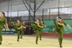 Nữ sinh Cao đẳng Cảnh sát nhân dân I biểu diễn võ ngành đẹp mắt