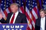 Video: Cậu út nhà Trump 'ngáp ngắn, ngáp dài' khi cha phát biểu ăn mừng chiến thắng