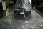 Chống ngập lụt xe ô tô trong hầm bằng áo mưa rẻ tiền