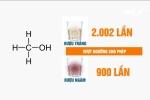 Hà Nội: Phát hiện quán ăn bán rượu chứa methanol vượt ngưỡng 2.002 lần