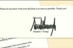 Chữ ký đặc biệt tiết lộ gì về con người Donald Trump?
