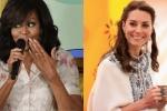 Vợ Hoàng tử William chia sẻ bí quyết làm đẹp với bà Obama