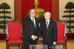 Tổng Bí thư Nguyễn Phú Trọng tiếp Tổng thống Pháp Francois Hollande