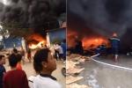 Video: Cháy dữ dội kho chứa phế liệu ở Hưng Yên
