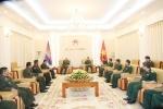 Trung tướng Phan Văn Giang tiếp Phó Quốc vụ khanh Quốc phòng Campuchia