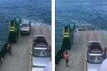 Hành khách bất lực nhìn tài sản lớn nhất của mình chìm xuống biển khi đi phà