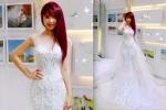 Khởi My được khen hết lời khi diện bộ váy cưới đính 8.000 viên pha lê