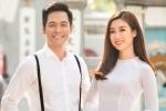 Hoa hậu Đỗ Mỹ Linh quấn quýt bên MC Phan Anh