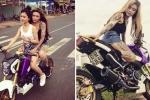 Xôn xao clip 'hot girl' xăm trổ chạy xe máy không đội mũ bảo hiểm