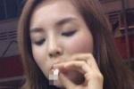 Hoa hậu Kỳ Duyên lại lộ ảnh hút thuốc lá táo bạo