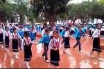 Hàng trăm học sinh tiểu học nhảy Cha cha cha đẹp mắt như vũ công chuyên nghiệp