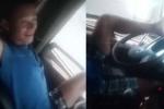 Triệu tập tài xế lái xe tải bằng chân trên đường cao tốc