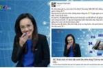 Vô tình bật cười trên sóng trực tiếp, BTV Hoài Anh lên tiếng