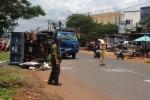 Xe tải tông liên hoàn trên quốc lộ, 3 mẹ con thương vong