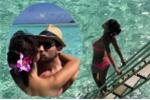 Hà Anh diện bikini, nồng nàn hôn chồng ở 'thiên đường nơi hạ giới'
