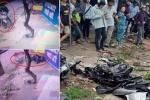 Camera ghi cảnh xe tải phóng bạt mạng nghiền nát xe SH khiến mẹ bị thương, con nguy kịch
