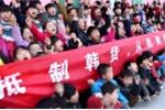 Học sinh mẫu giáo Trung Quốc tham gia tẩy chay hàng hóa Hàn Quốc