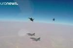 Chiến cơ Pháp 'bày binh bố trận', thả bom nghiền nát kho vũ khí IS