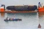 Phát hiện thi thể nghi là nạn nhân vụ chìm phà Sewol ở khu vực trục vớt