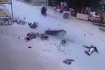 Video: Xe máy phóng tốc độ cao gây tai nạn khủng khiếp