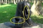 Vườn tượng điêu khắc nứt vỡ, hoen gỉ, trở thành thùng rác trong công viên Hà Nội