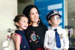 Con trai Diva Hồng Nhung diện đồ phi công siêu đáng yêu