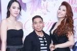 Lực sĩ Phạm Văn Mách và bạn gái gợi cảm tới chúc mừng Huỳnh Mi ra album đầu tay